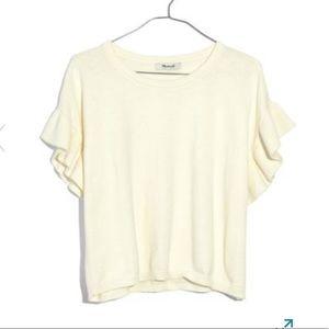 Madewell ruffled sleeve pullover shirt